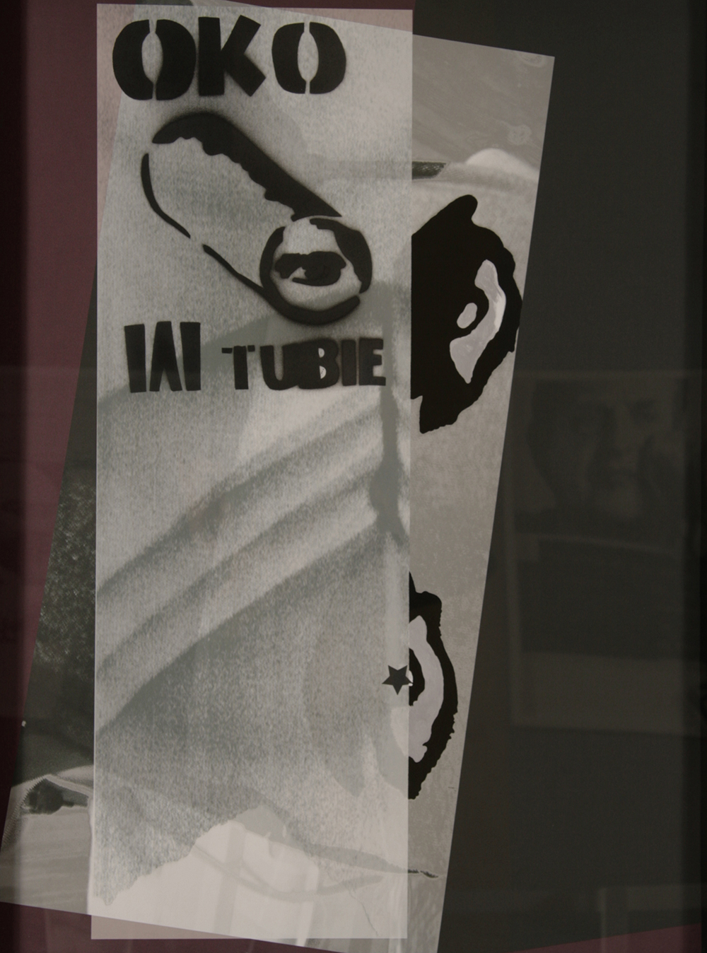 "no.43- Untitled (Oko w tubie) tempera on paper, ink jet print, 21""x28""/ 53cmx71cm,             2008"