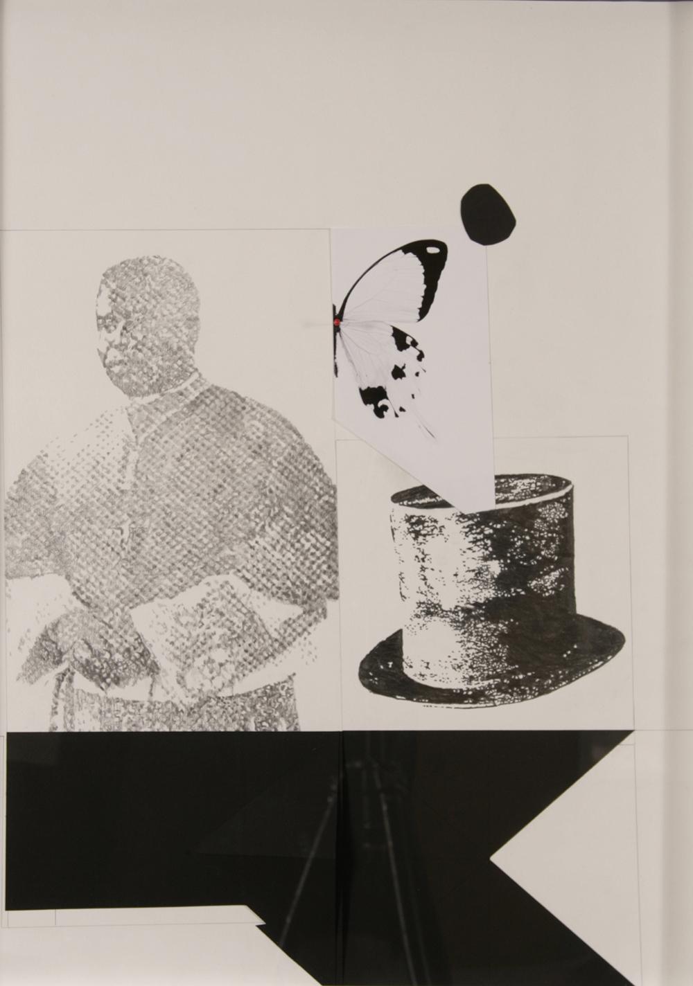 "no.46- Untitled (Biayranda), pencil on paper, ink jet print, 21""x28""/ 53cmx71cm, 2008"