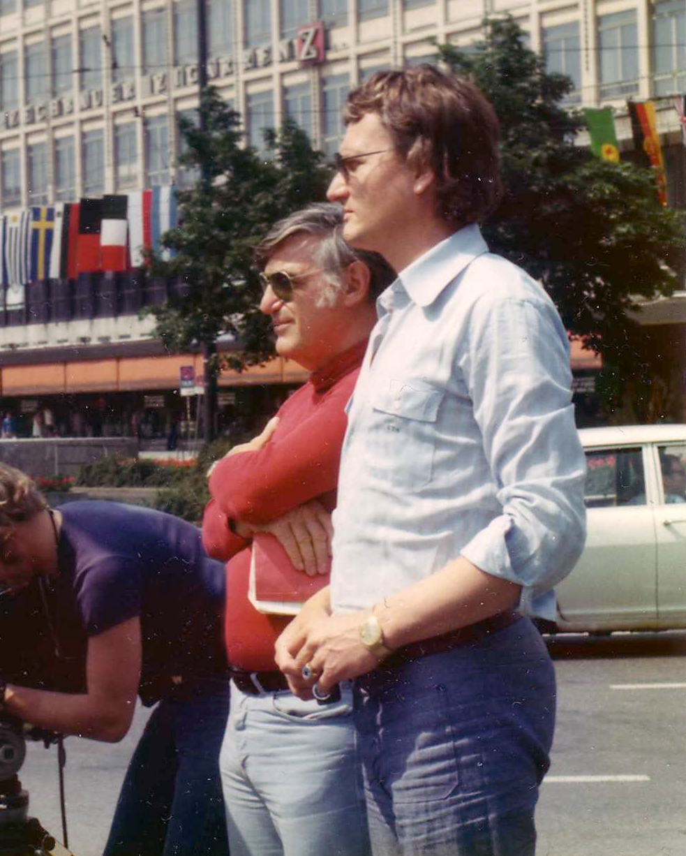 Writer/Director Joe Sarno and Producer Chris Nebe in Germany 1973.
