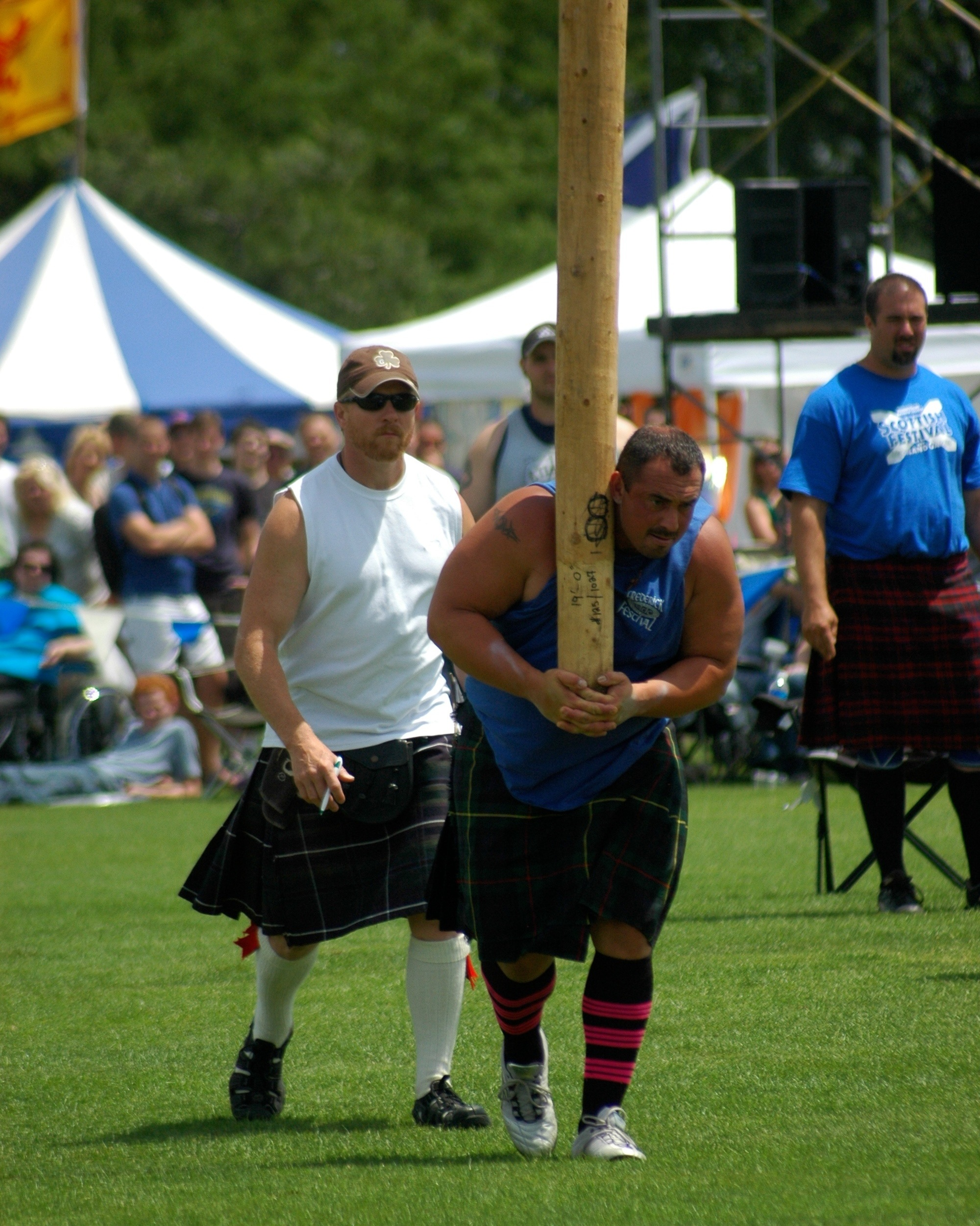 Heavy Athletics - Scottish Heavyweight Athletics form the centerpiece activities at the Highland Games. These contests have their roots in the 10th century when Scottish King Malcolm Ceanmore first hosted competitions of strength and speed among his warriors and clansmen.Witness classic contests of strength & accuracy including: the Caber Toss, Clachneart, Hammer Throw, Sheaf Toss & Weight Throws.