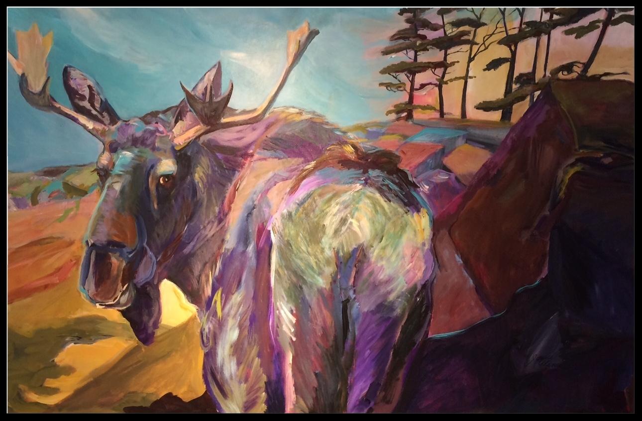 """ Looking Back"",  a beautiful new artwork by  artist Janice Ykema."