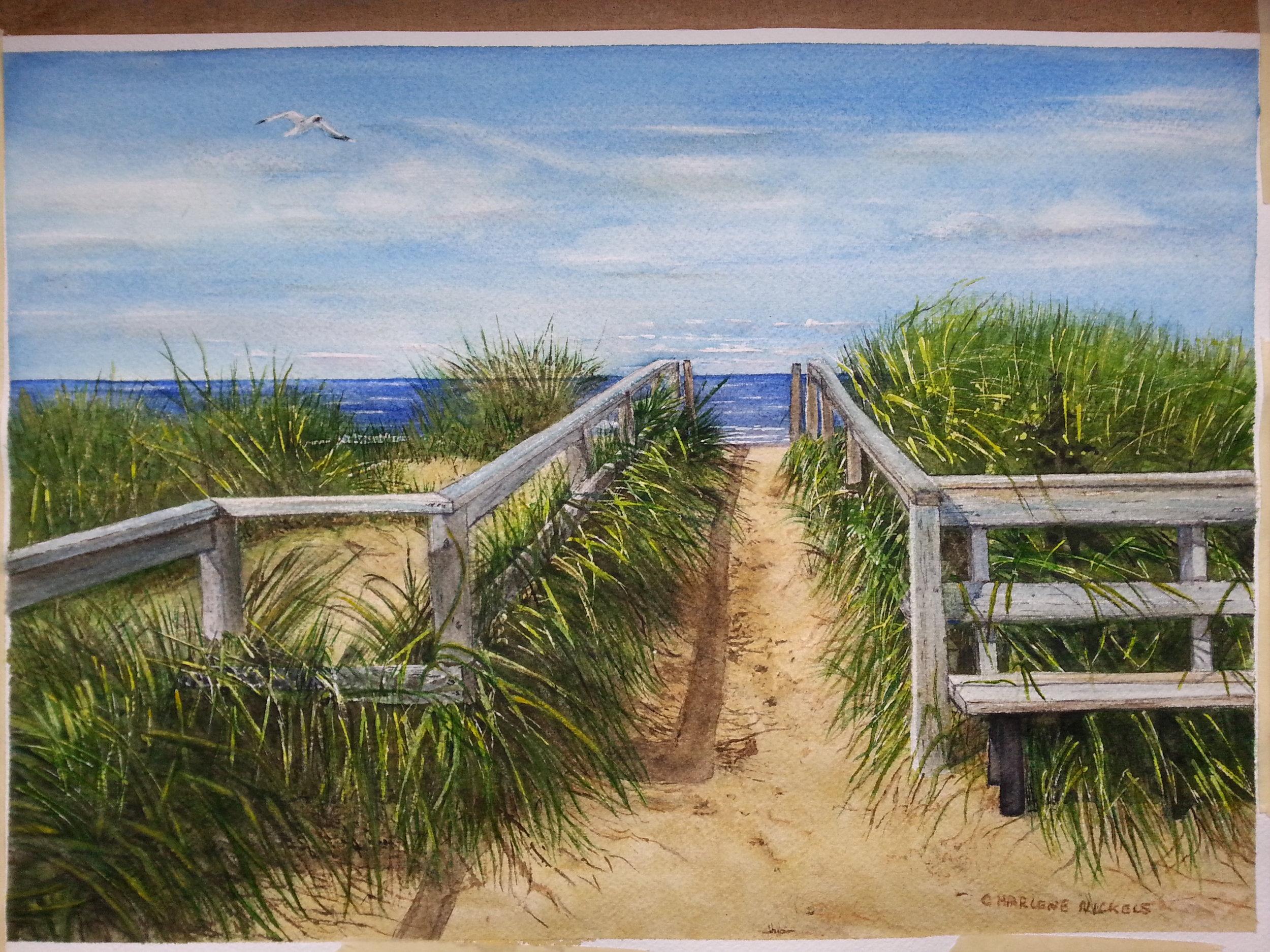 Lakeside Sand Dunes by Charlene Nickels