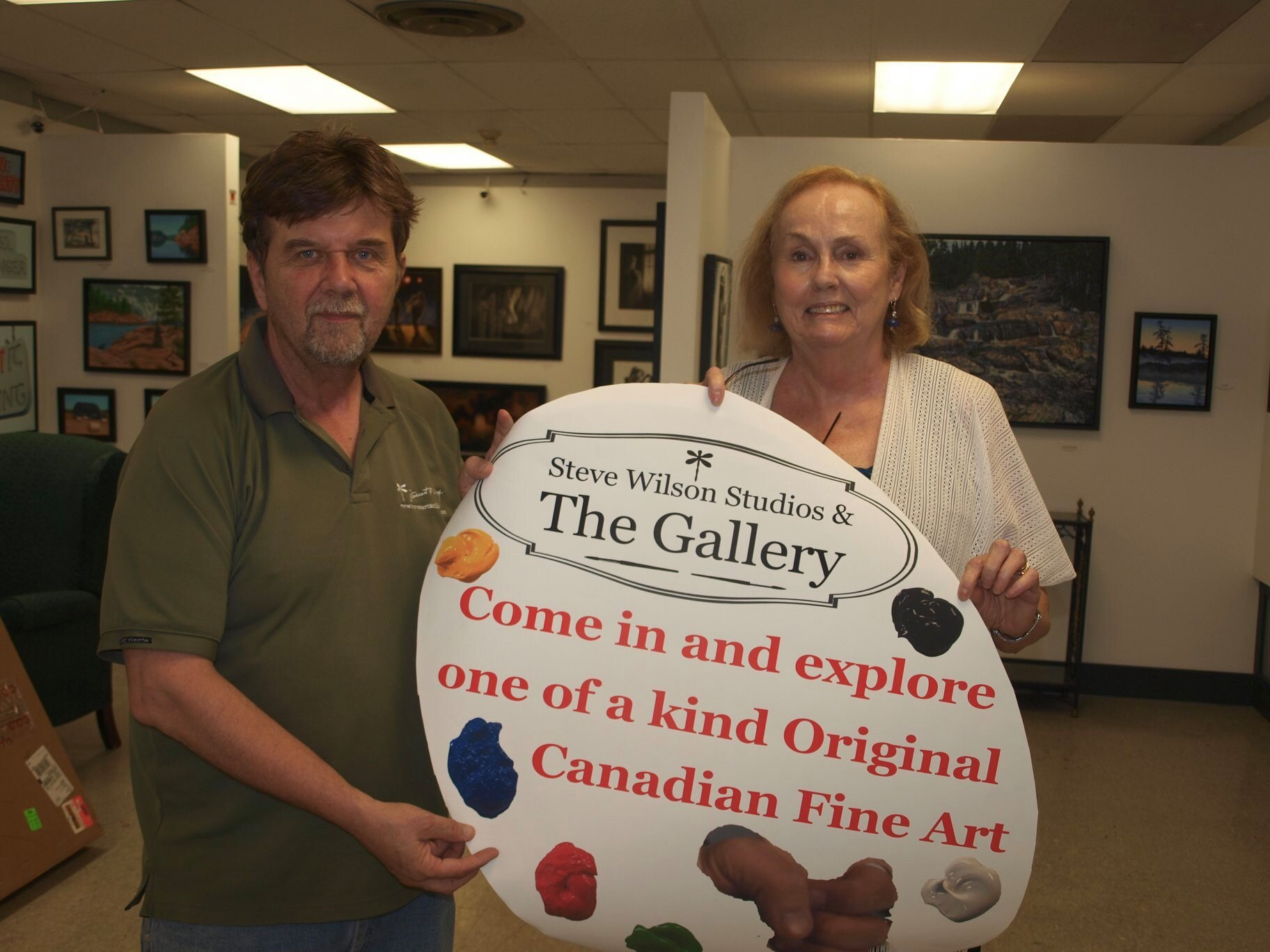 Artist Helen Duplassie was dropping off her work in Niagara Falls for the September exhibition.