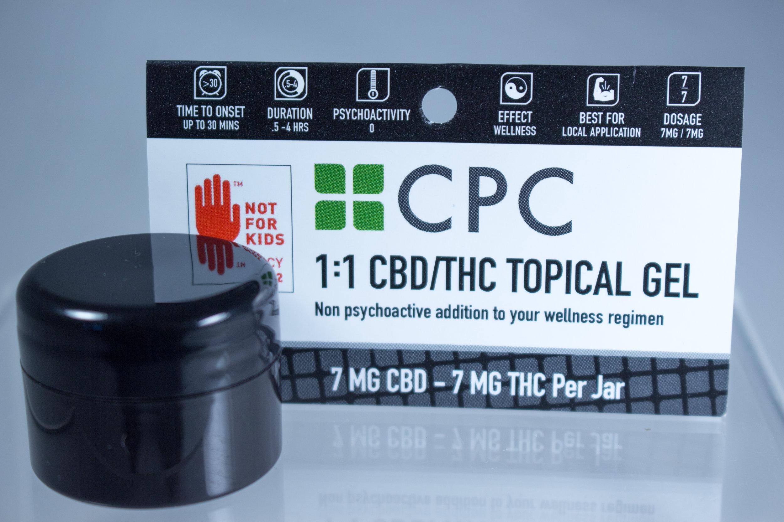 CBD and THC cannabis oil topical gel