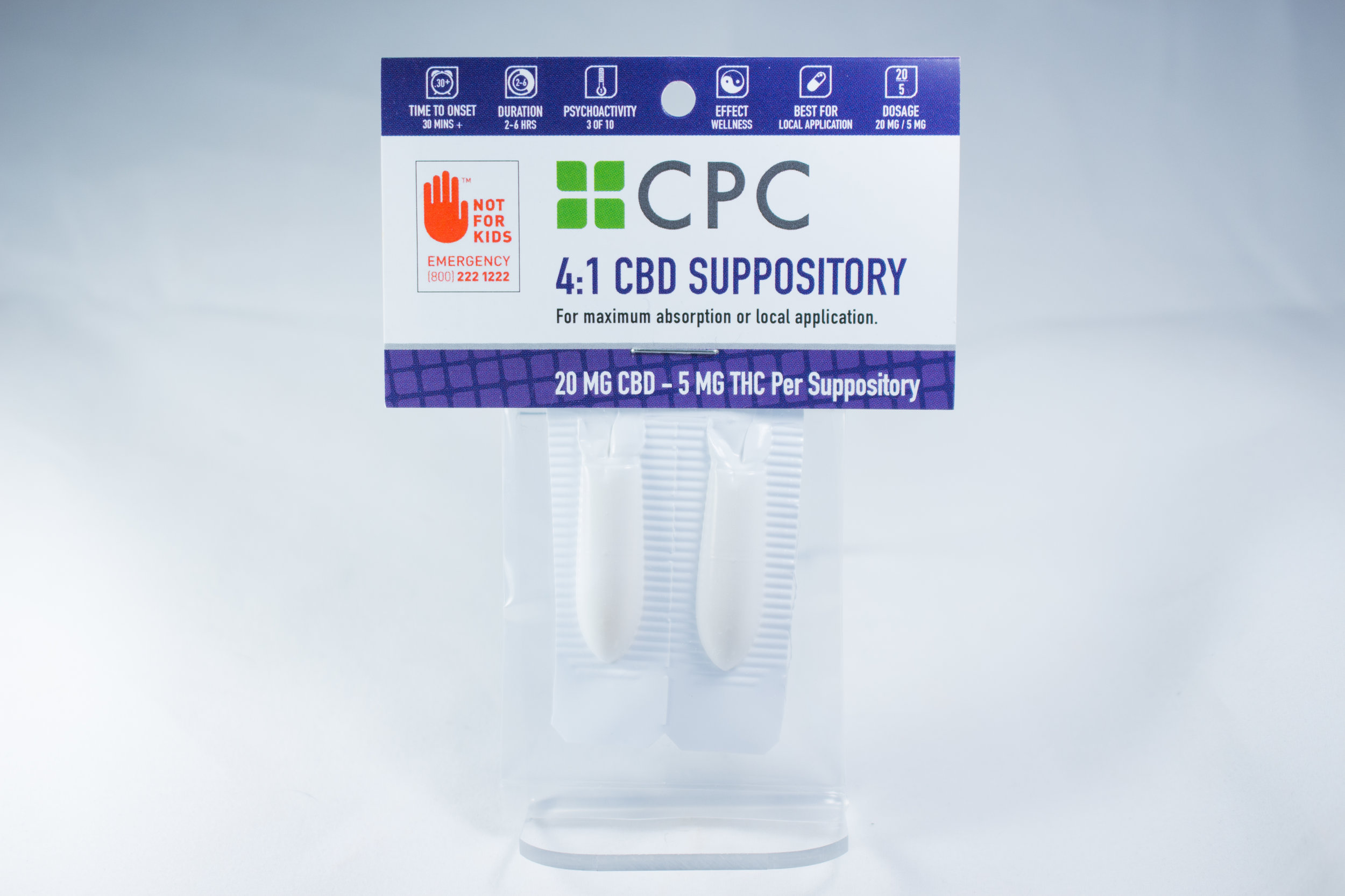4:1 CBD THC cannabis oil suppository