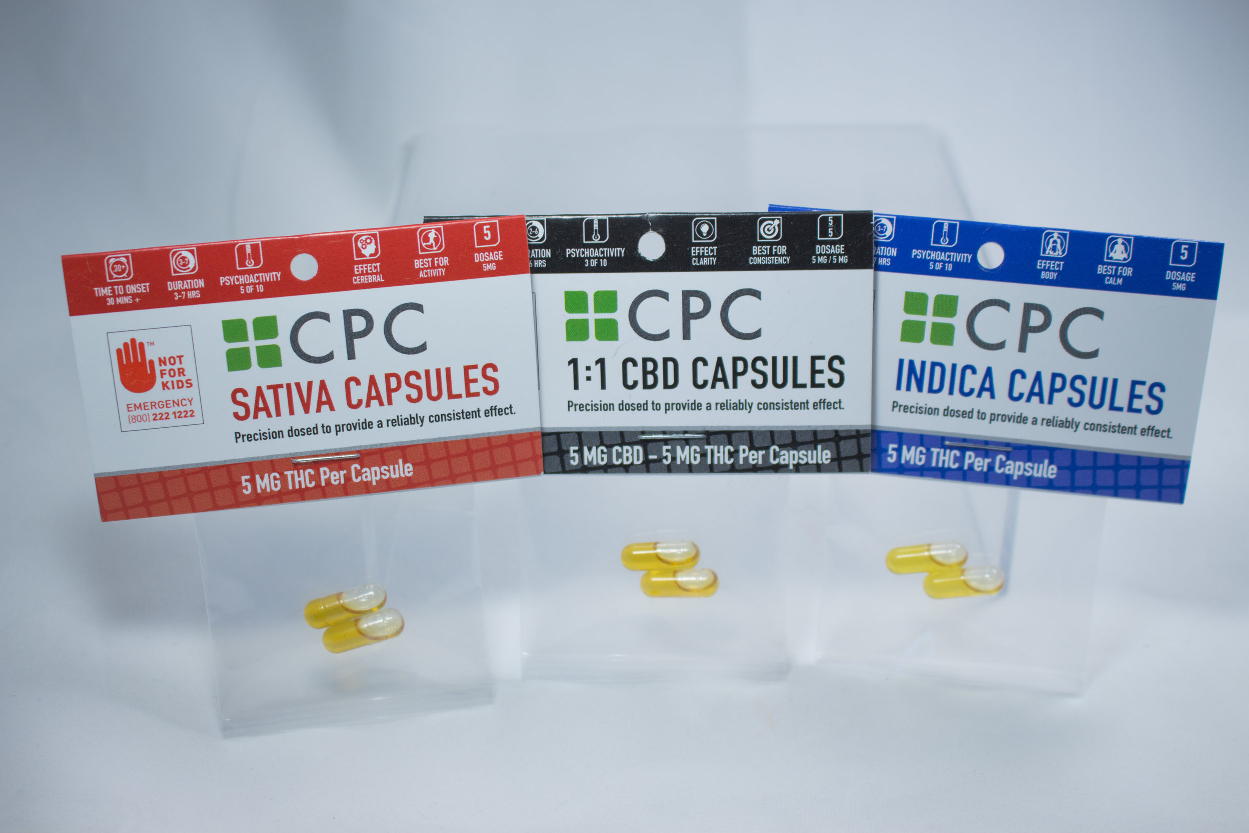 Capsules   You are looking for a rich and potent dose in a simple method of ingestion. CPC Capsules are a cannabis extract blend in first run cold press olive oil. Try a dose, see how it effects you, build a regimen, get back to you.  Learn more...