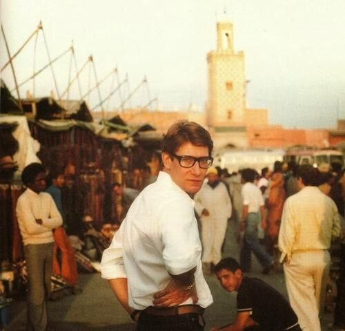 Yves Saint-Laurent - In the Jemaa El Fna place, Marrakech, Morocco