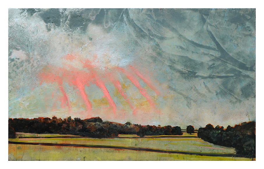 Harry Adams 'Red Sky Over Cultivated Lands'