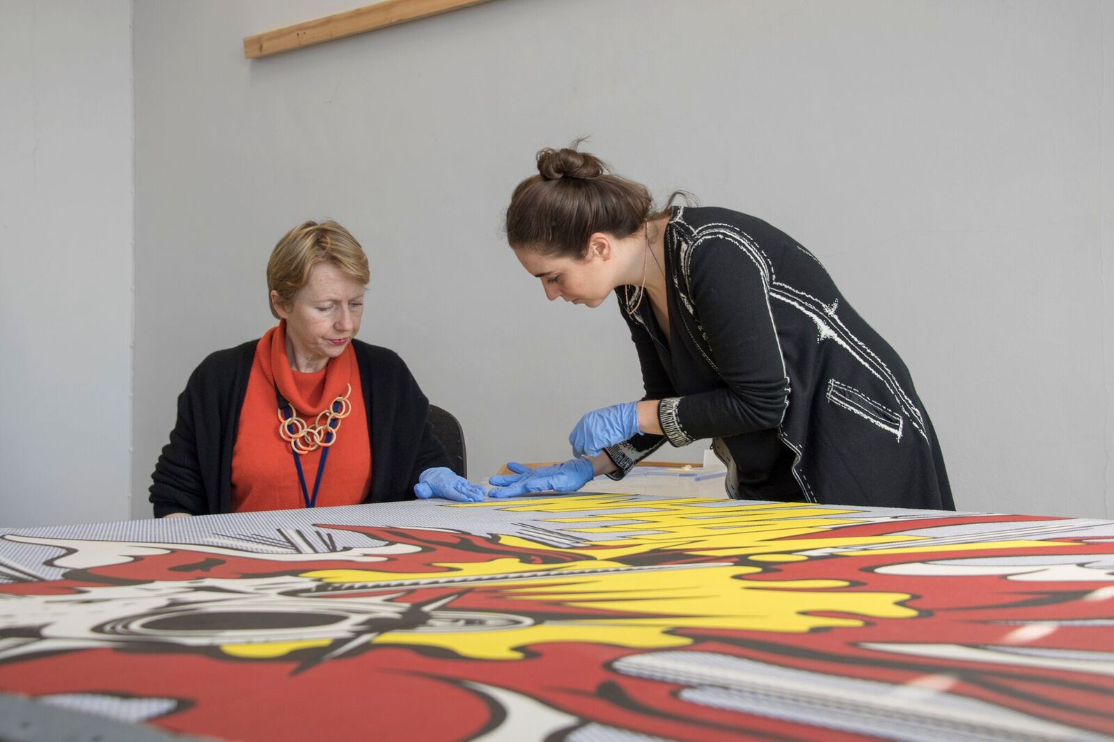 Conservation science researcher Angelica Bartoletti (right) and paintings conservator Rachel Barker during..._preview.jpeg