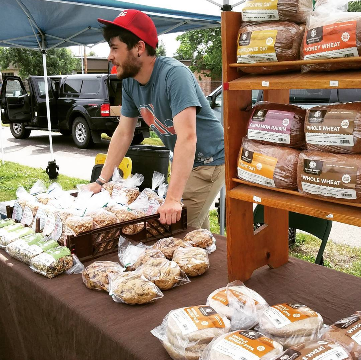 Nature's Bakery at the market