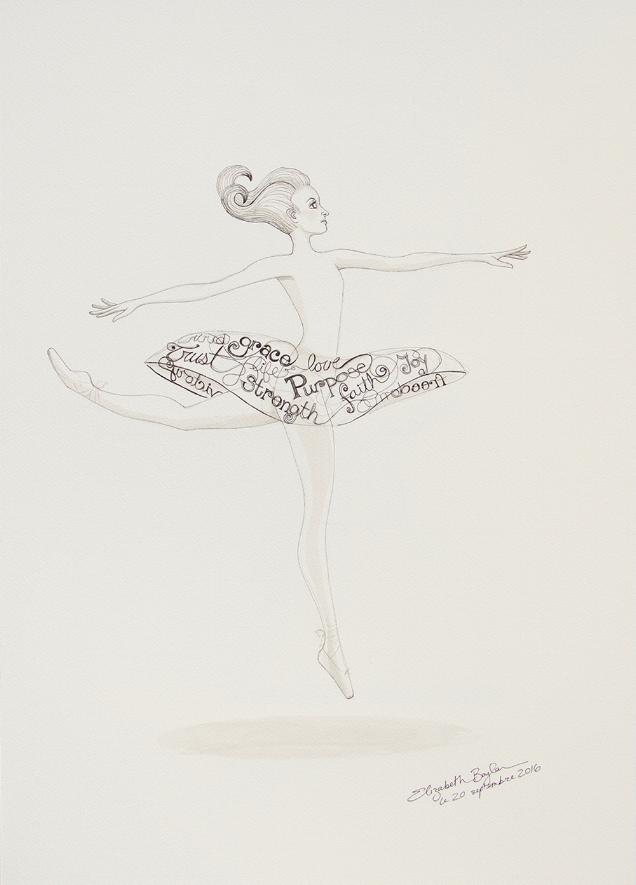 Typography Ballerina Tutu