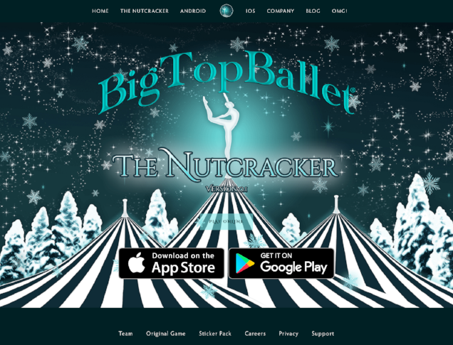 The Nutcracker Mobile Game by Big Top Ballet