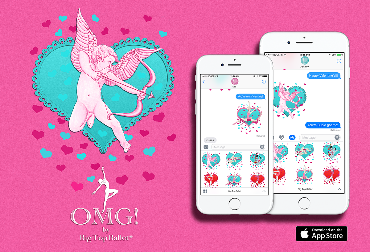OMG! by Big Top Ballet Stickers for iMessage App