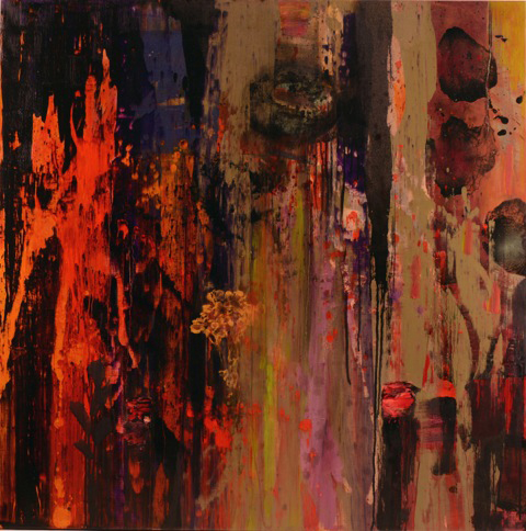 Bob Nugent, Jardim Inhotim #2, 2015. Oil on linen, 40 x 40 inches.