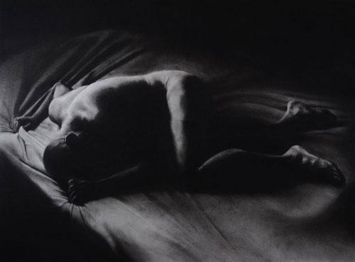 Douglass Schatz, Portal, 2015. Charcoal on paper, 32 x 42 1/2 inches.
