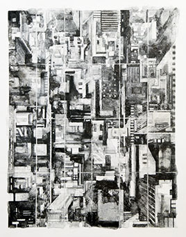 """Cardinal Point , 2013. Graphite powder with gum and arabic on paper, 22"""" x 18"""". Gift of Werner and Sarah-Ann Kramarsky Courtesy Cheryl Goldsleger"""