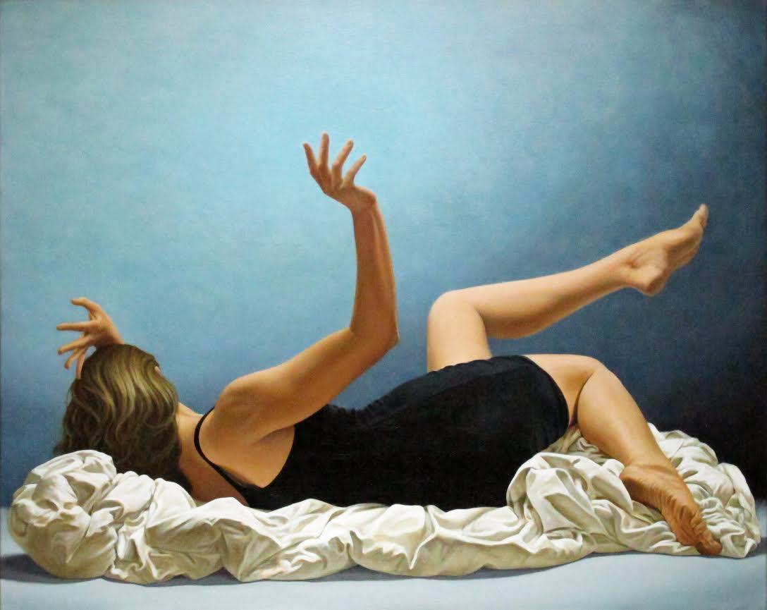 Jeff Danley,  Awaken , 2016. 32 x 40 inches, oil on canvas.