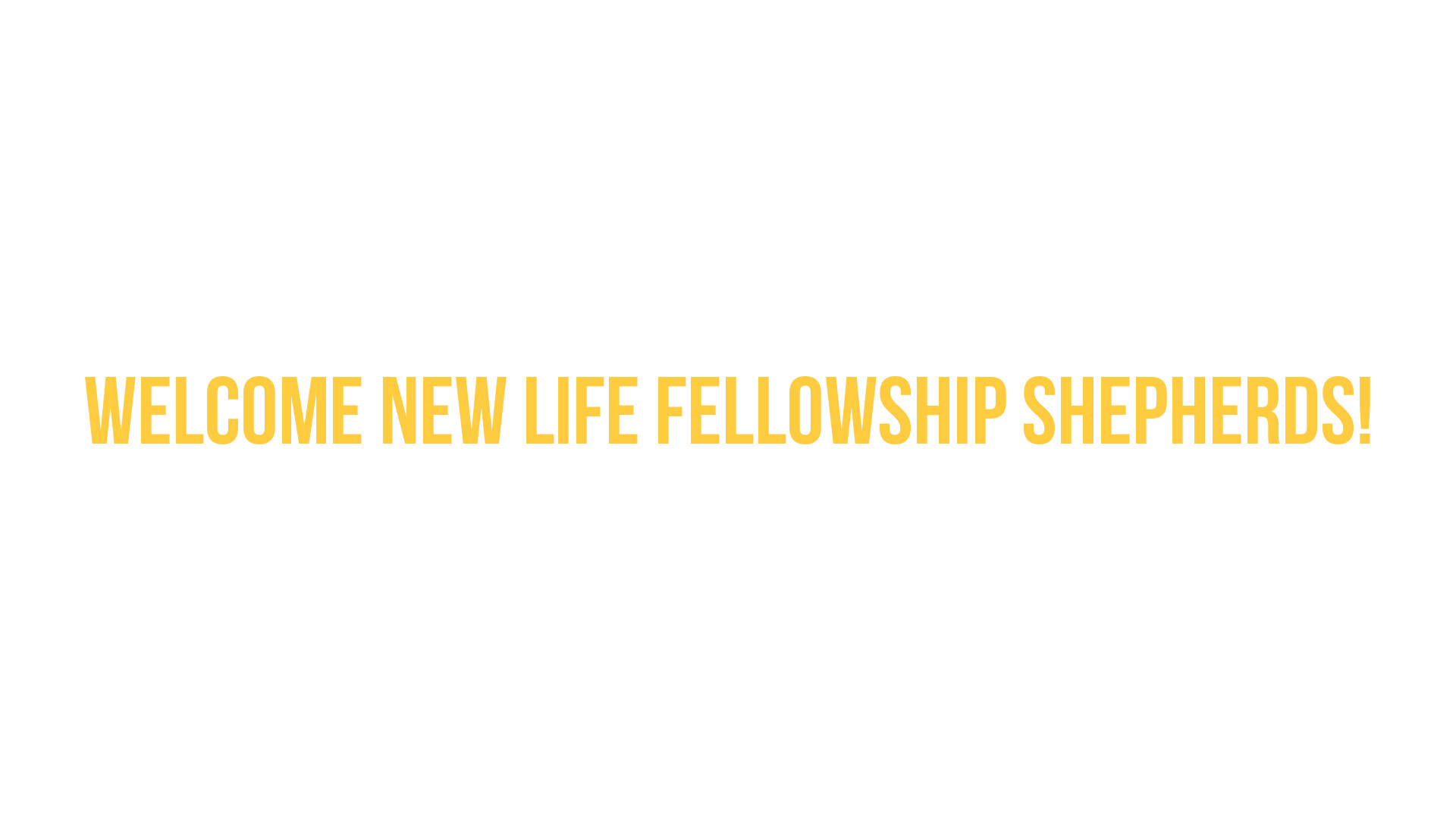 New Life Fellowship shepherds share their testimonies and encouragements about Family Church!
