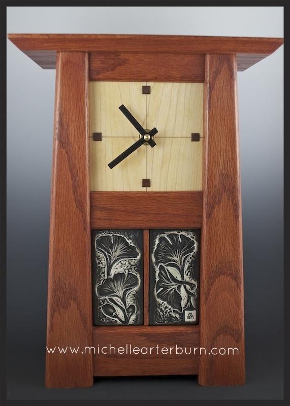Porcelain Tiles/Wooden Clock