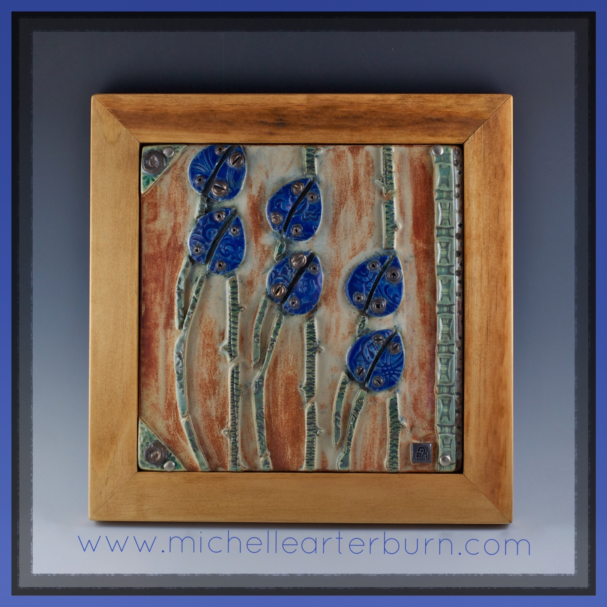 Hand-crafted Tile/Stoneware - Framed
