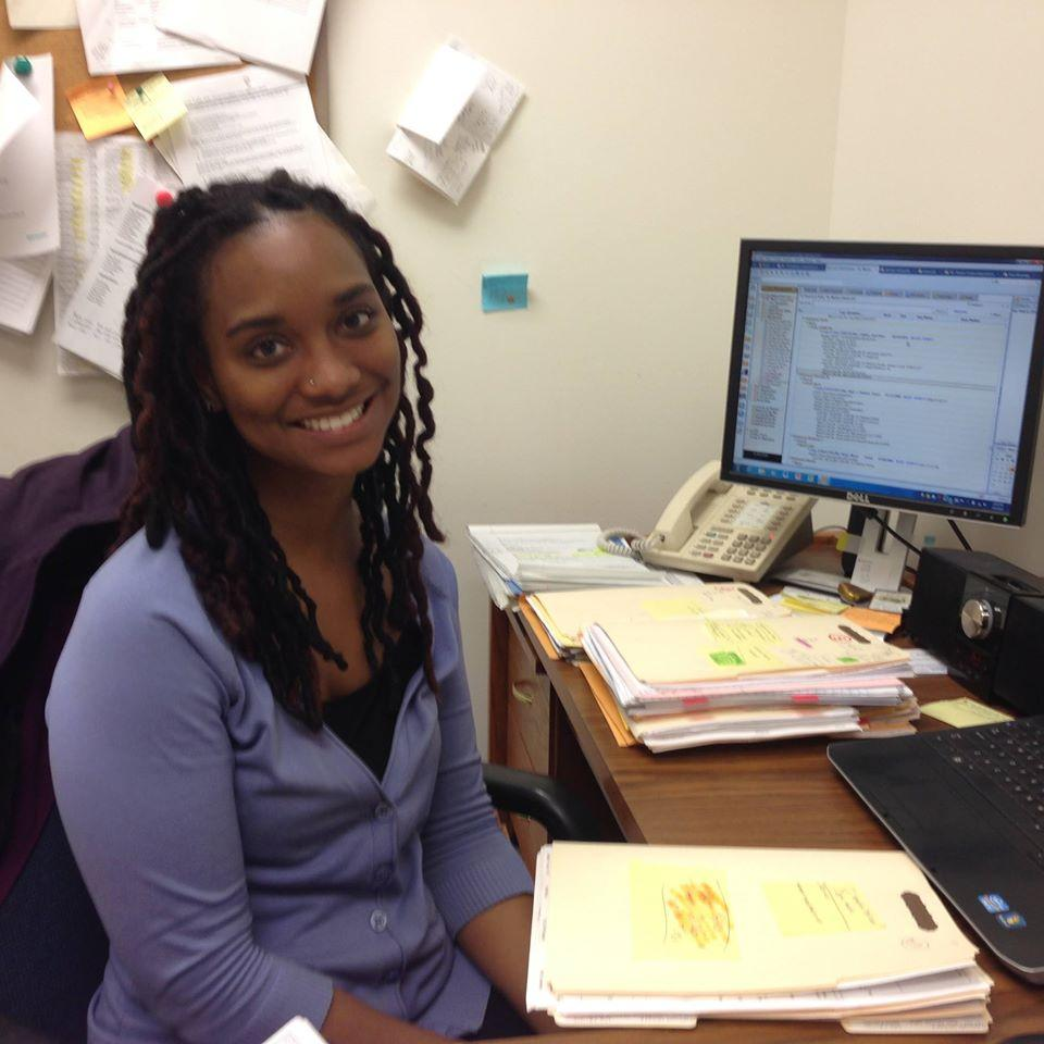 Janise Lampley, assistant public defender with St. Louis County, is currently managing a little more than 100 clients.  CREDIT EMANUELE BERRY | ST. LOUIS PUBLIC RADIO