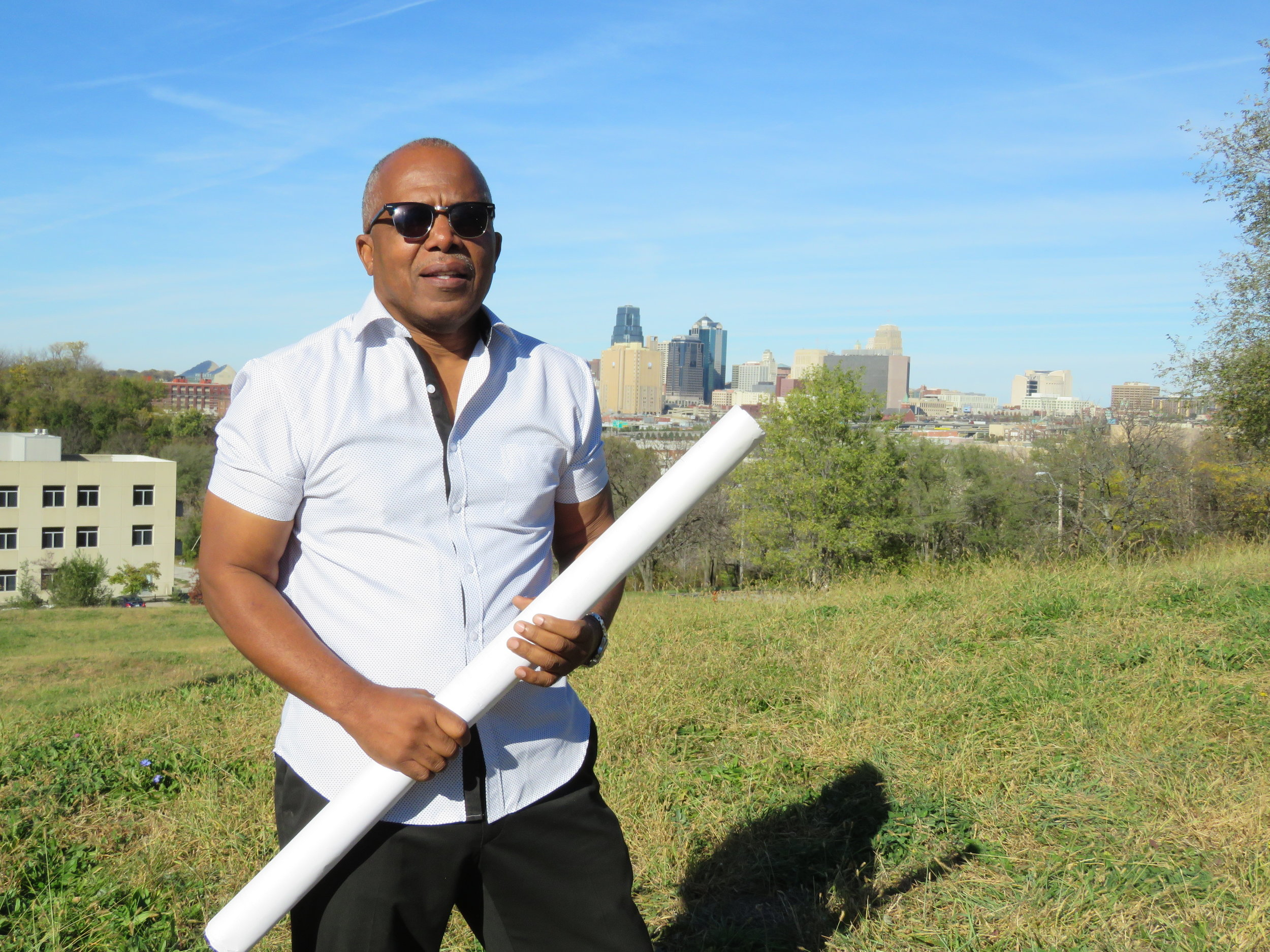 Vewiser Dixon, a successful businessman in Kansas City, wants to turn 22 acres of vacant land into a startup community tailored toward black and brown entrepreneurs.  LISA RODRIGUEZ  | KCUR