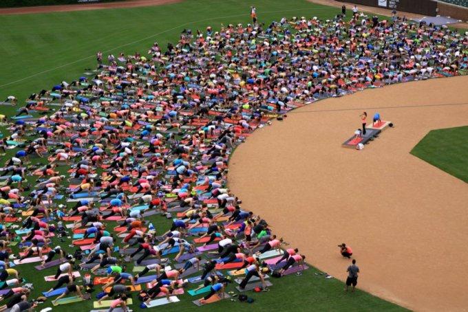 Wrigley Field Yoga