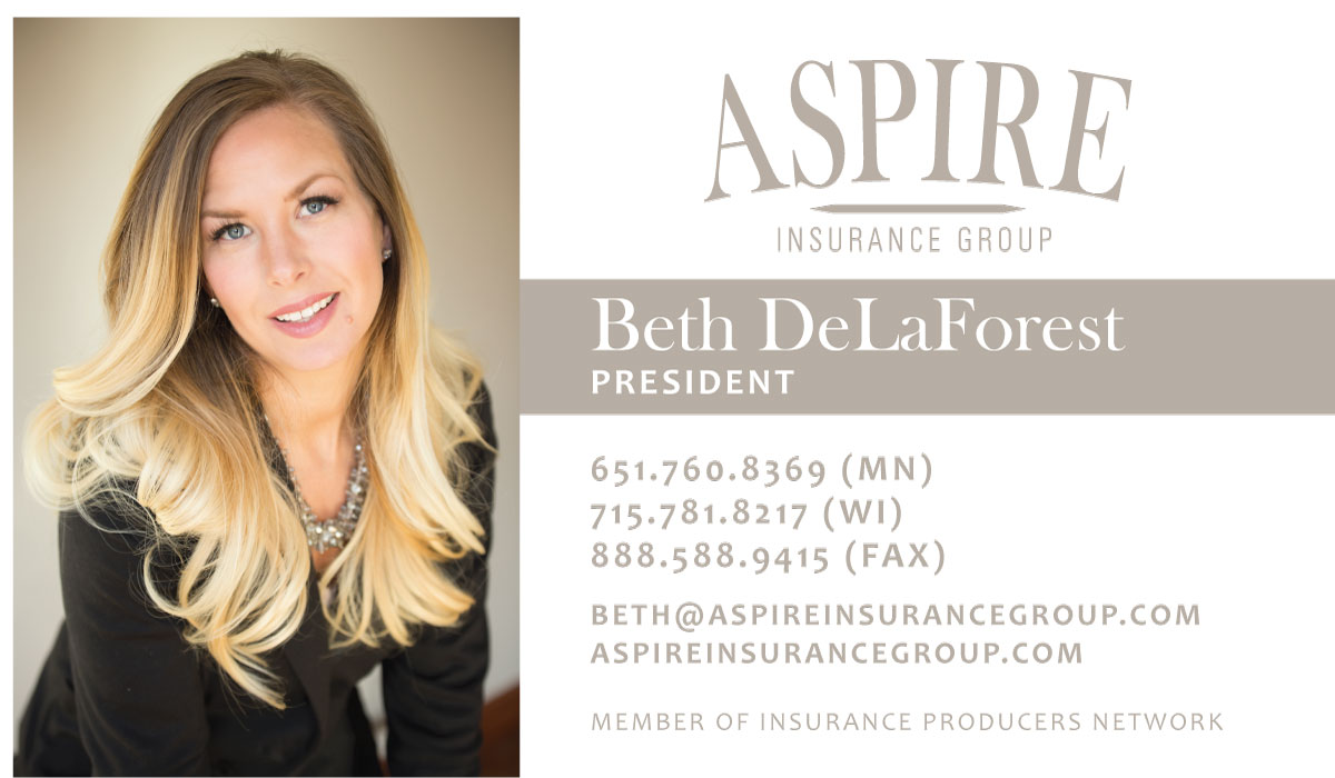 Aspire Insurance Group, Inc. Business Card - front