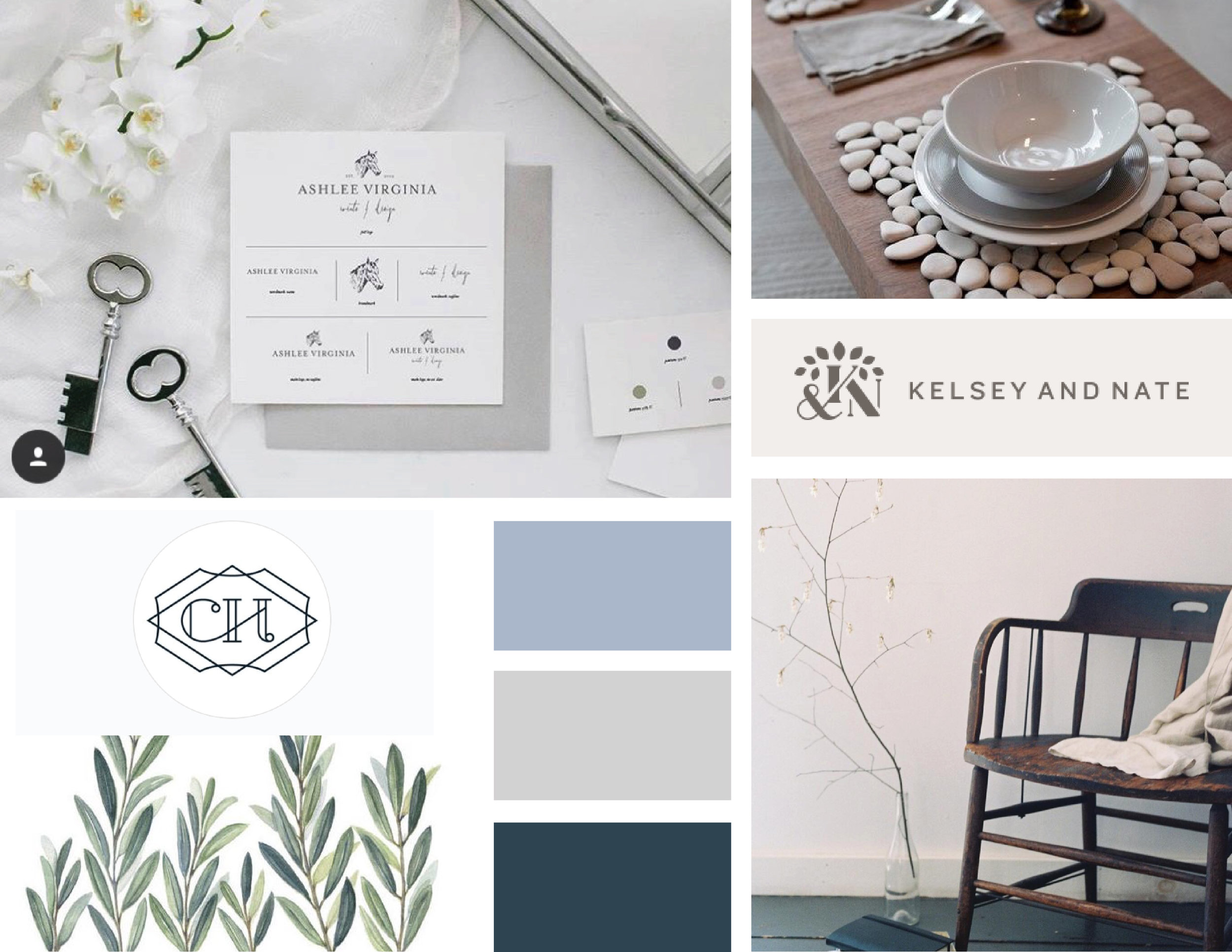 Paige Hulse Law – contract law firm – Hayley Bigham Designs – Tulsa Oklahoma Branding Studio – professional structured logo design - moodboard