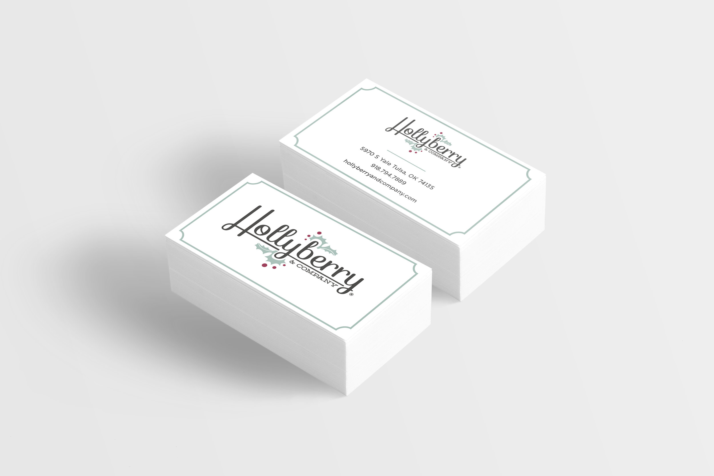 hayley bigham designs-tulsa graphic designer-hollyberry and company-logo design-home decor store-business cards