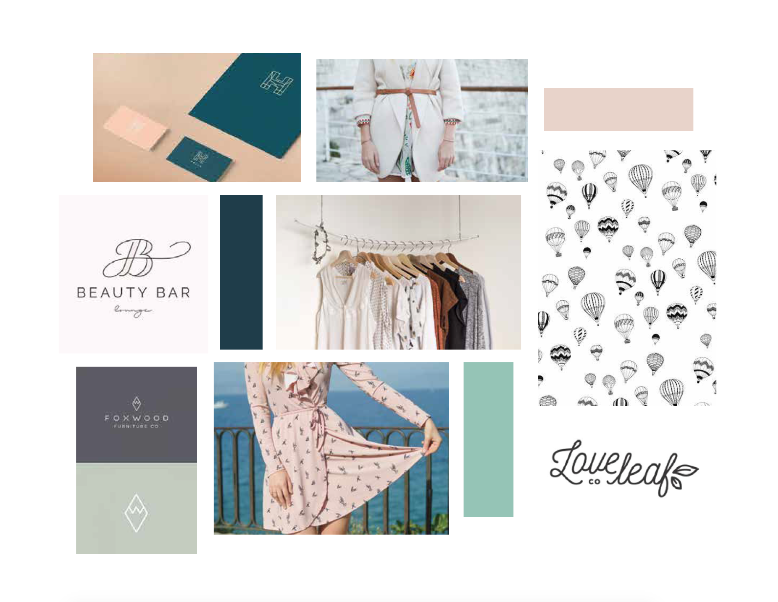 hayley bigham designs-tulsa graphic designer-Horizon boutique-feminine online clothing-moodboard-logo design
