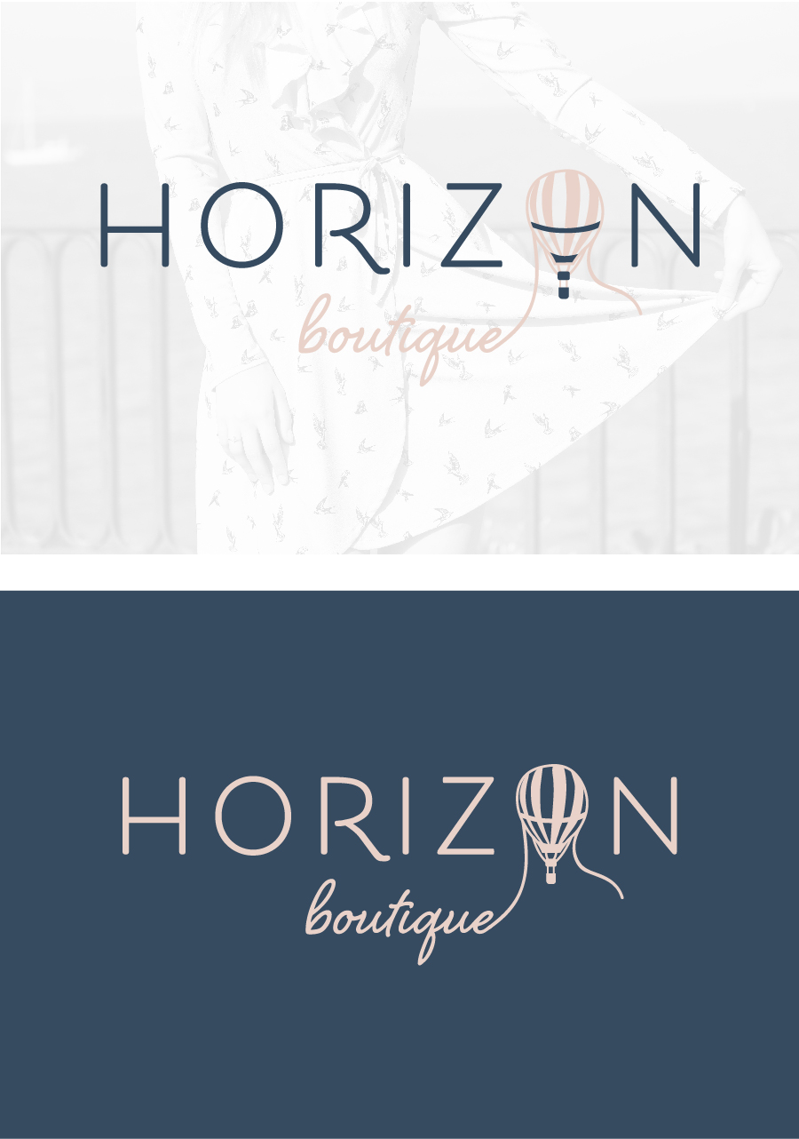 hayley bigham designs-tulsa graphic designer-Horizon boutique-feminine online clothing-logo design