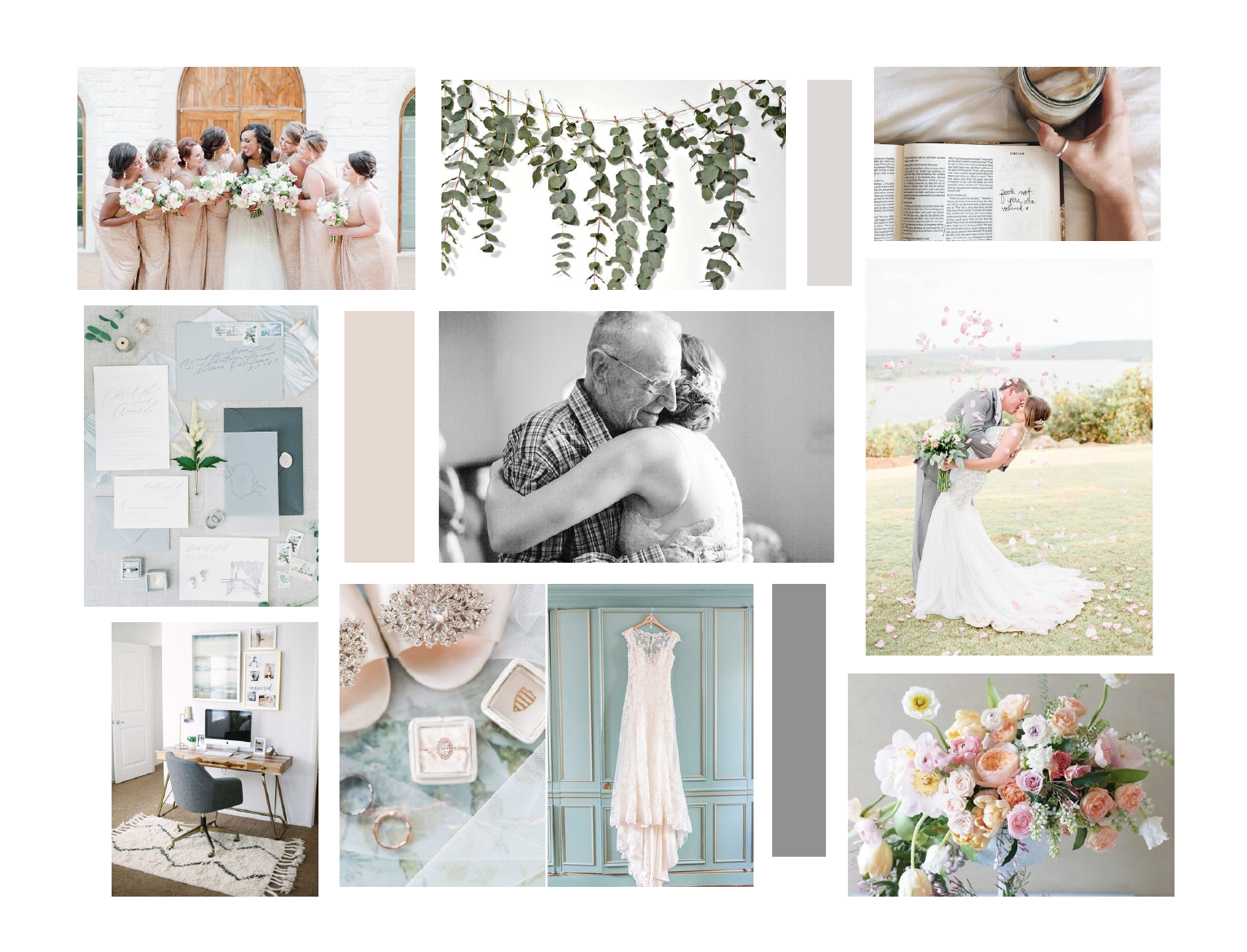 Holly Felts Photography – preppy wedding photographer – Hayley Bigham Designs – Tulsa Oklahoma Branding Studio – crest monogram - moodboard