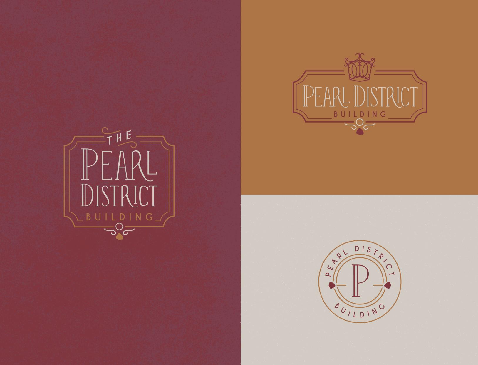 Pearl District Building-Tulsa-WeddingVenue-Branding-Speakeasy-Urban-ElegantLogo
