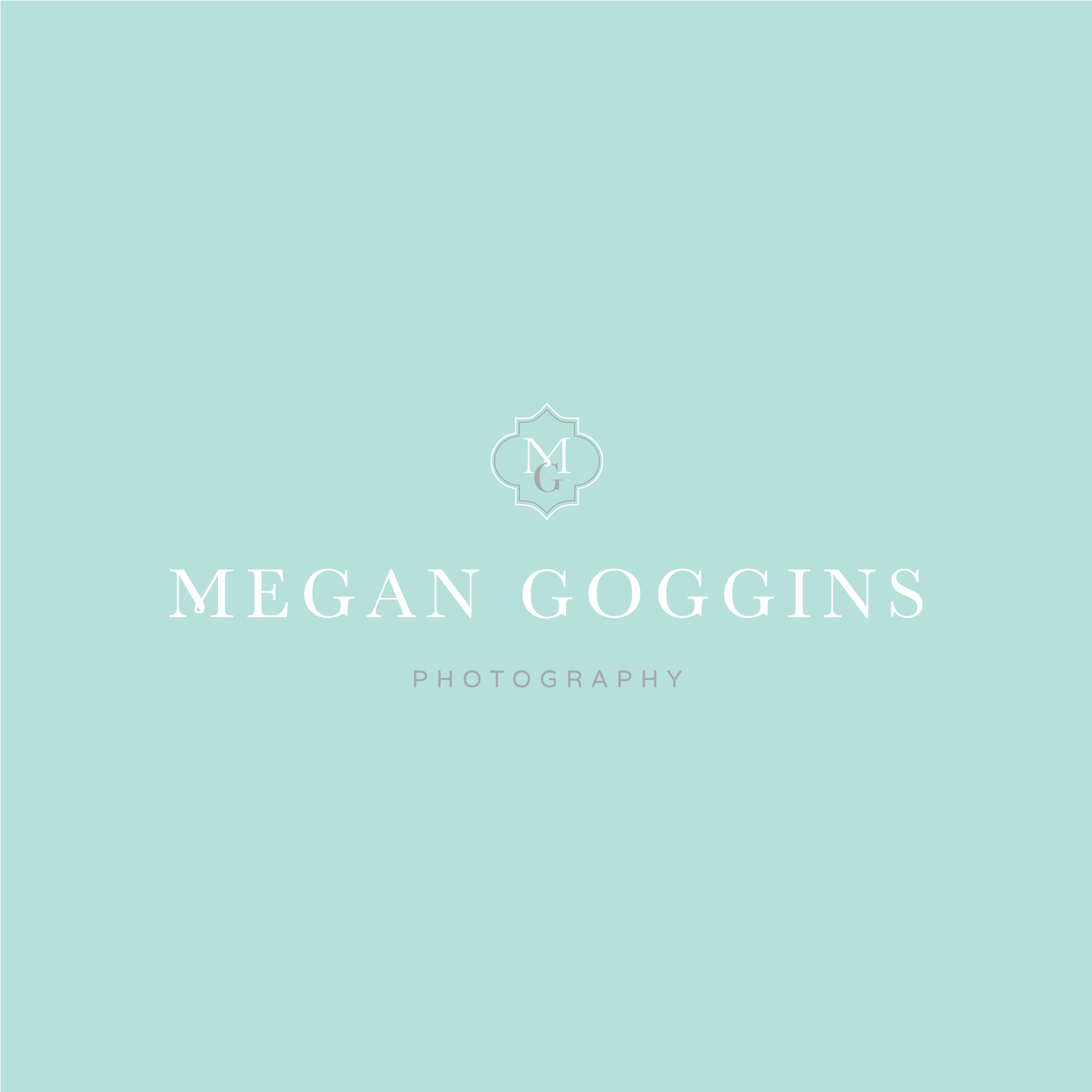 Megan Goggins Photography - wedding photographer logo - feminine - preppy logo - tulsa brand studio - tulsa graphic designer - hayley bigham designs