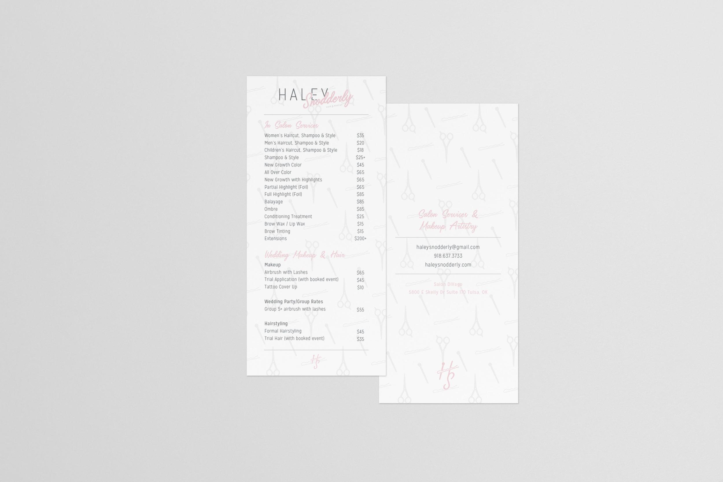 HaleySnoddery-Salon services menu-hair stylist-makeup artist-tulsa oklahoma-hayley bigham designs-graphic designer-brand designer tulsa