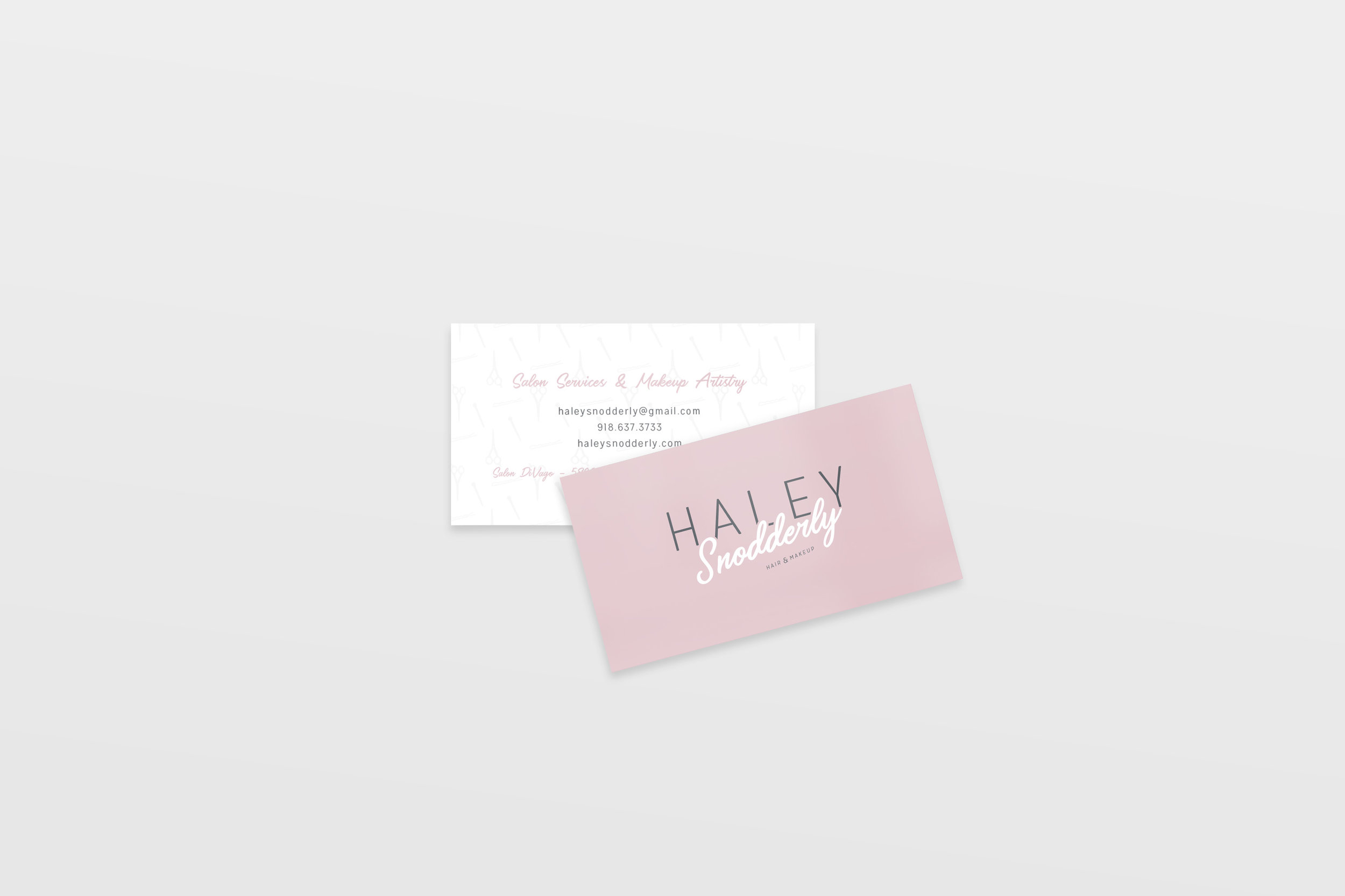 HaleySnoddery-Salon services business card-hair stylist-makeup artist-tulsa oklahoma-hayley bigham designs-graphic designer-brand designer tulsa