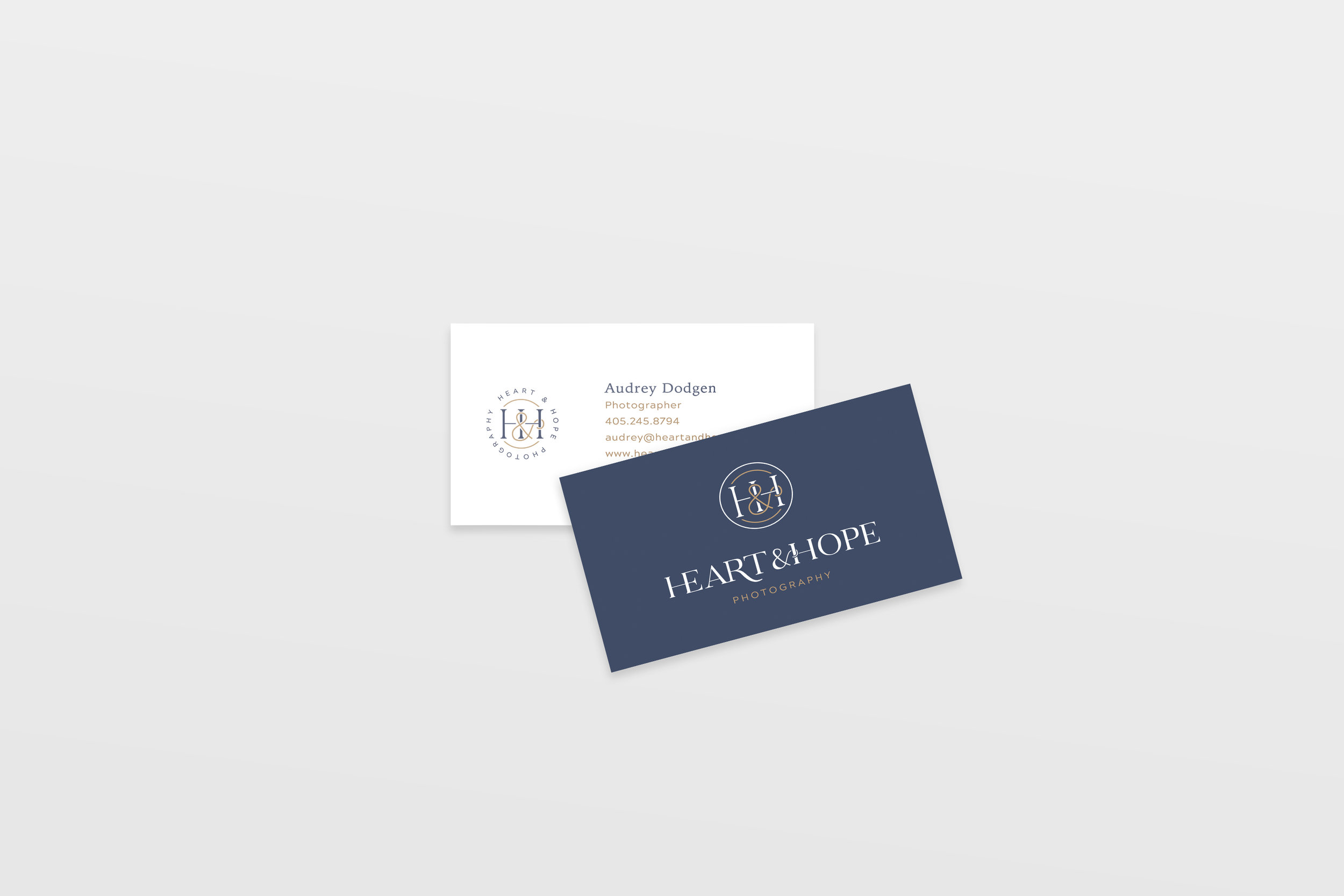 Heart and Hope Photography - photography business card design - tulsa brand designer - Hayley Bigham Designs