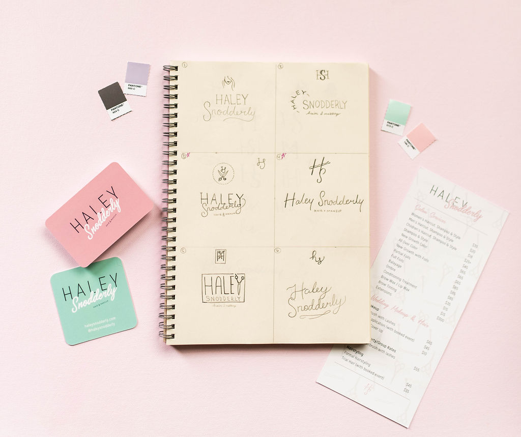 Haley Snodderly – hair and makeup stylist branding – Hayley Bigham Designs – Tulsa Oklahoma Branding Studio – friendly feminine