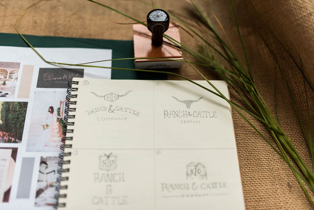 Eight Ten Ranch Branding - Stationery Suite - Hayley Bigham Designs - Tulsa Branding Studio  - Farmhouse Branding - Sketches