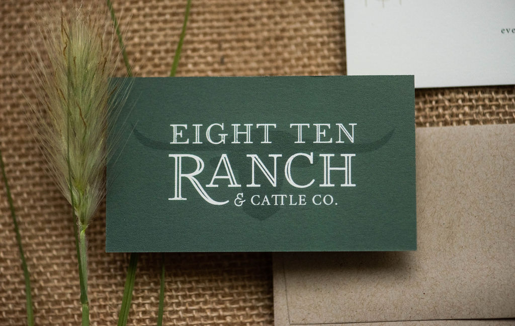 Eight Ten Ranch Branding - Business card - Stationery Suite - Hayley Bigham Designs - Tulsa Branding Studio  - Farmhouse Branding