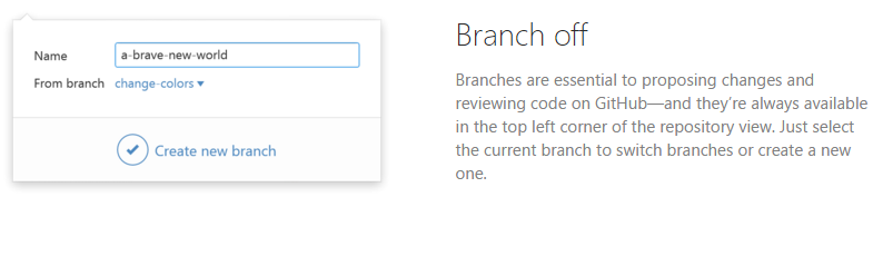 Branches are essential!