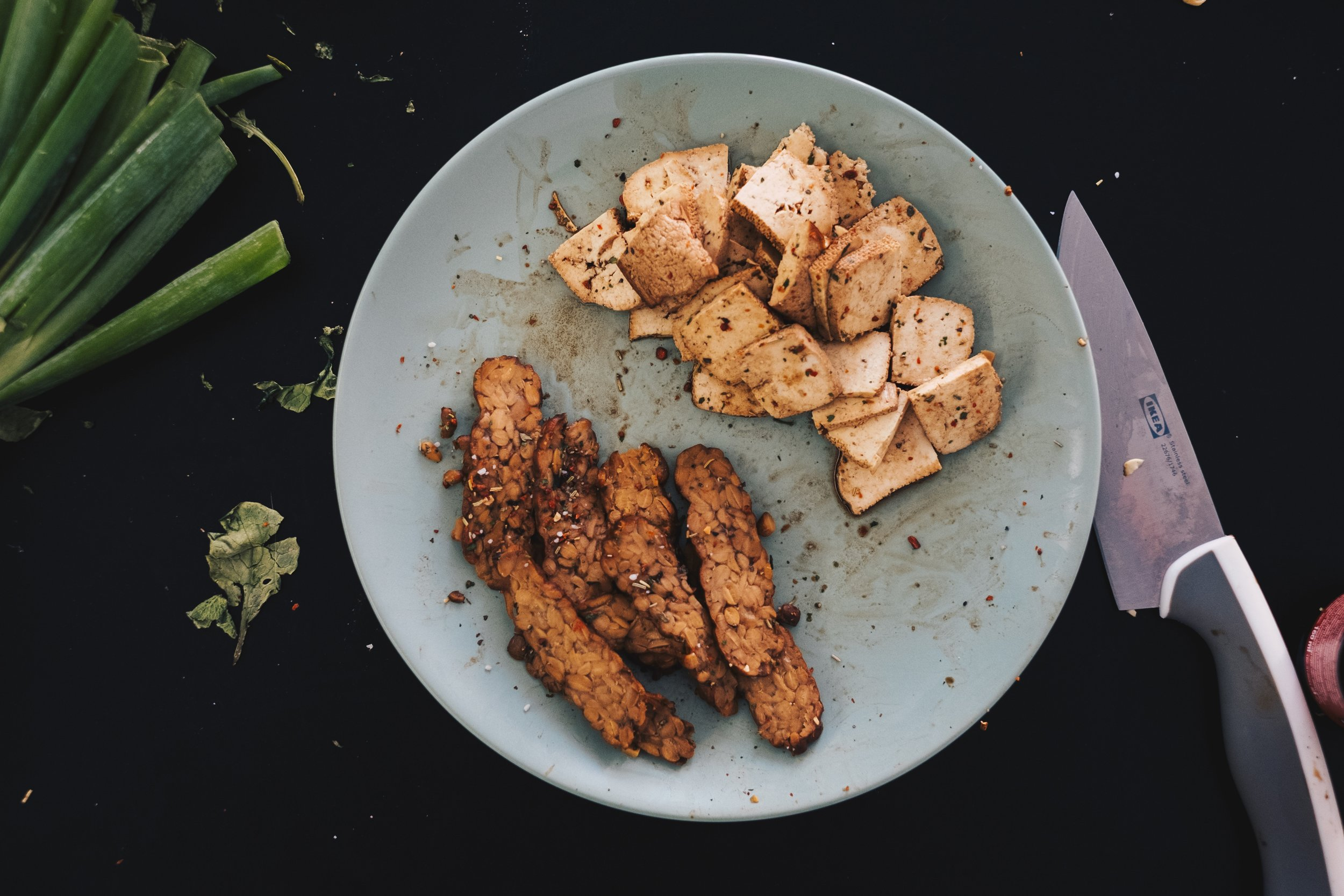 Tempeh is a traditional soy product originating from Indonesia