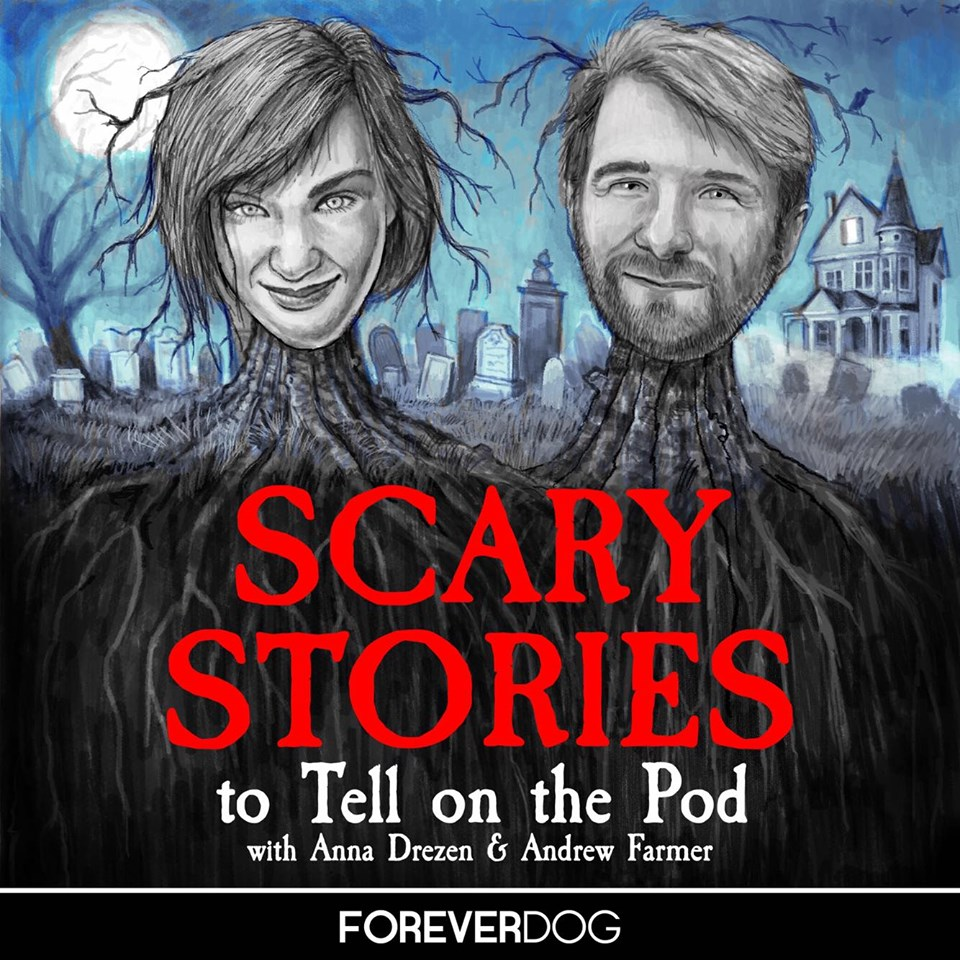 Join SNL Writer  Anna Drezen  and Comedian Andrew Farmer for an hilarious deep dive into the terrifying world of American folklore, ghost stories, hauntings, and urban legends, through the lens of the classic children's series Scary Stories To Tell In The Dark. Produced by the  Forever Dog Network .   Art by Bats Langley