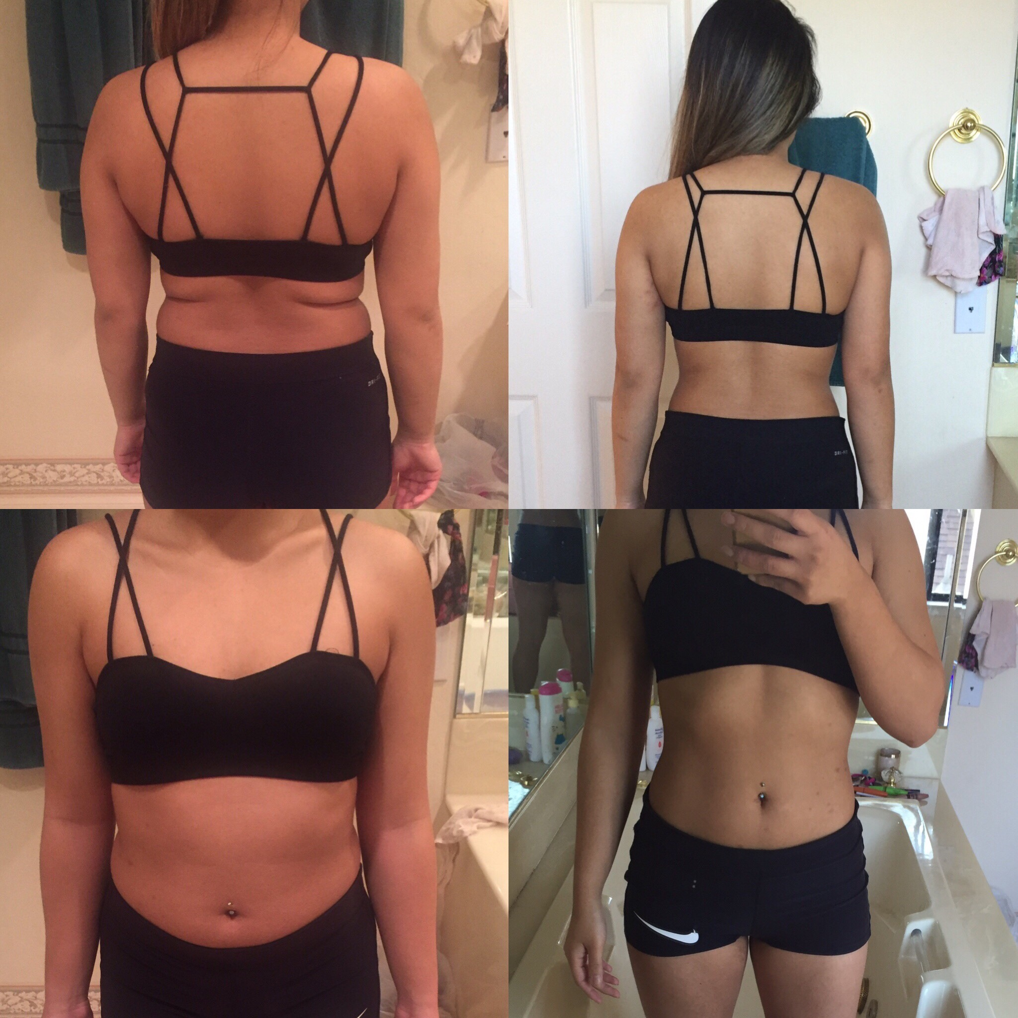 3 Month Training - One of my very first female clients Sully B. came to me for training and dieting guidance. She wanted to get in shape for a 2 week long vacation she had planned. Her dieting was 100% in control along with her cardio routine. She was very satisfied with her figure as our training came to an end.