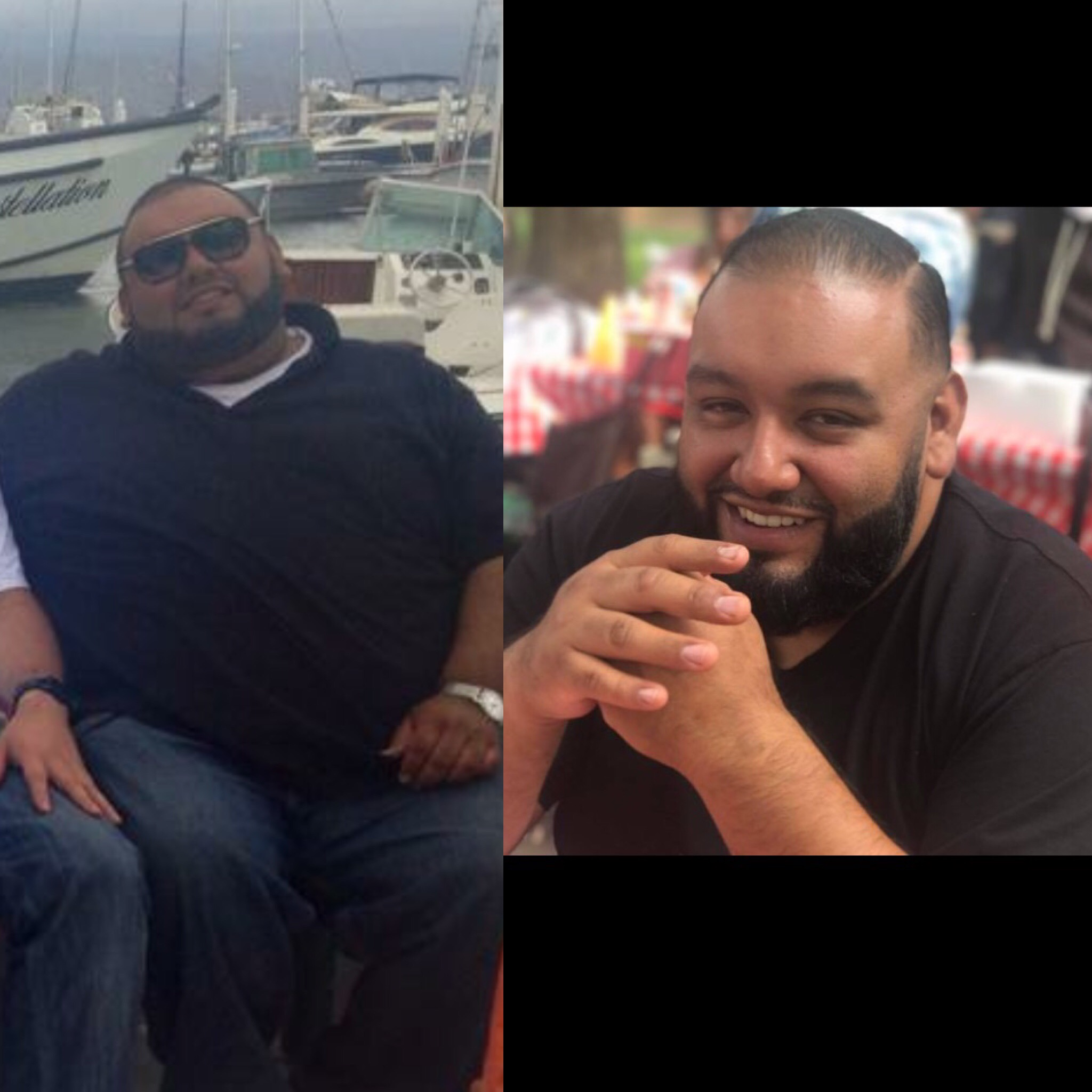 8 Month Training - Alberto M. is hands down one of my best clients. I helped him diet through three vacations and every Raiders home game lol. We started at 330 lbs, and now currently at 285 lbs. He has changed his whole lifestyle into a positive reality of what food actually is.