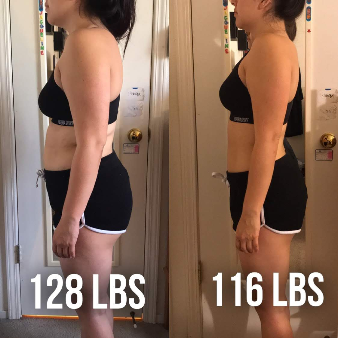 8 Week Nutrition - Jaqueline M. works a full time job, and also goes to SFSU for school. Her cravings always get the best of her, so I dieted her through