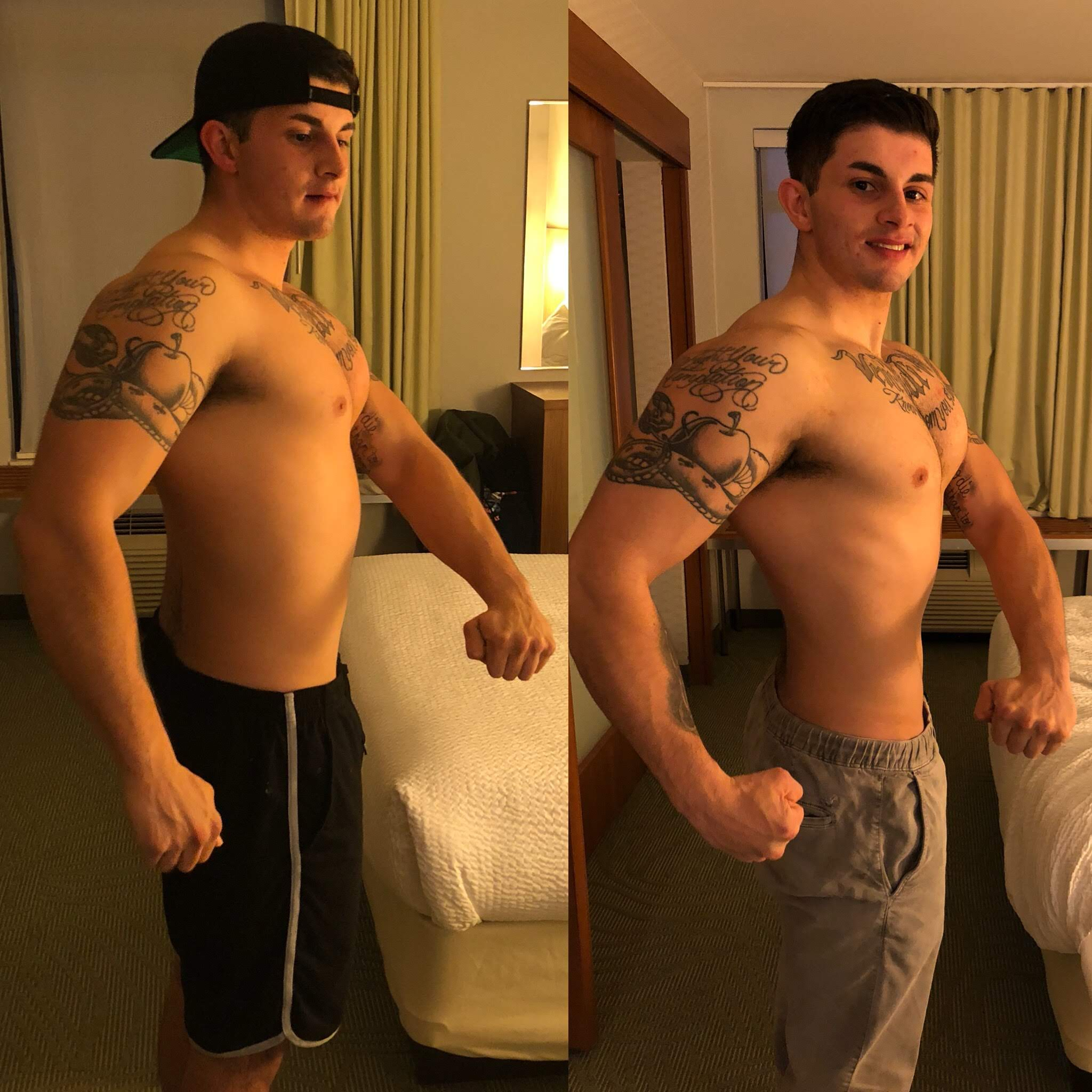 1 Month Dieting - Alan is a Macro dieter. Meaning, eating whatever he likes, as long as it fits his daily caloric intake. I had him drop weight fast with eating ice cream, Panda express, Chipotle. All I did was control his calories, and by him eating the right amount of food everyday, we had success.
