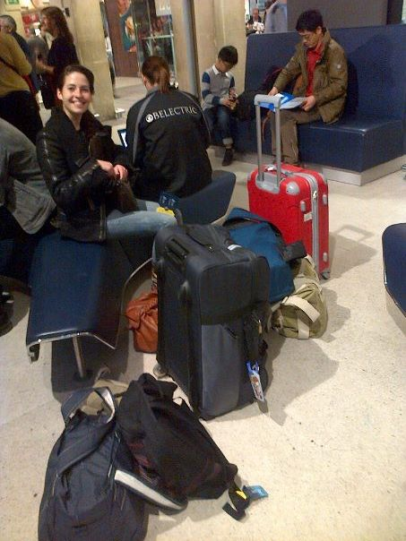 The day we left for London with 3000 bags.