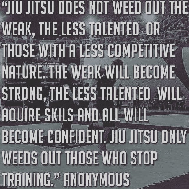 Go train! #consistencyiskey #nevergiveup #staytraining #jiujitsuforeveryone